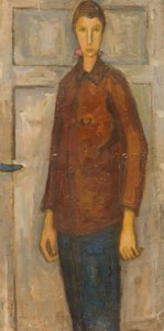 zuka autoportrait 1948 oil on linen 73x35cm