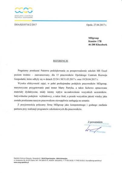 MDszkolenia.pl_Referencje_MS Excel - poziom średnio zaawansowany