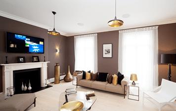 Luxury living space in London