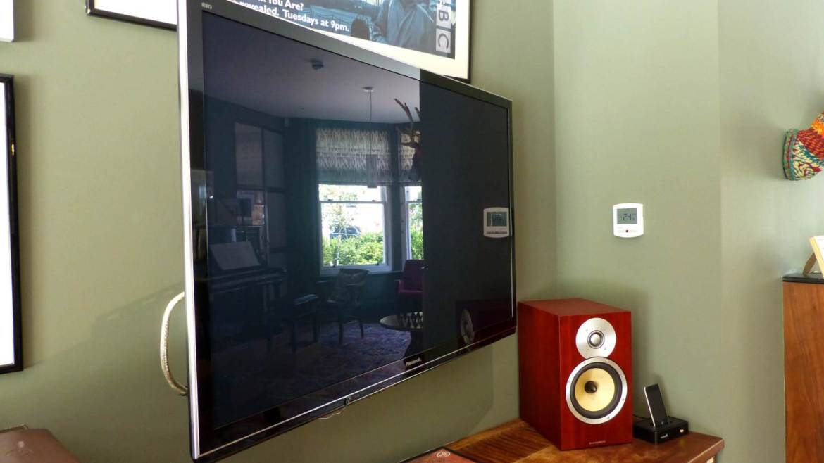 TV and high-fi system fitted to living space