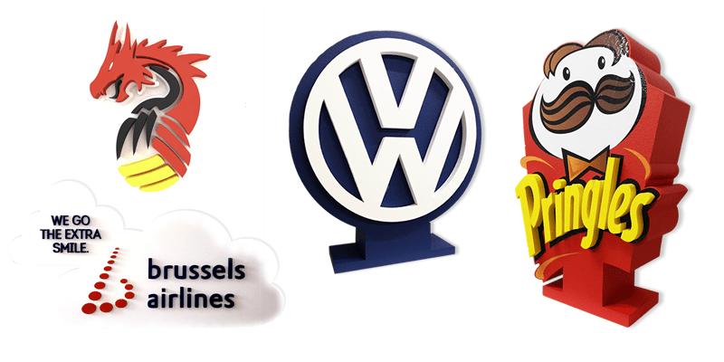 Budgetvriendelijke 3D logo's en eyecatcher in piepschuim