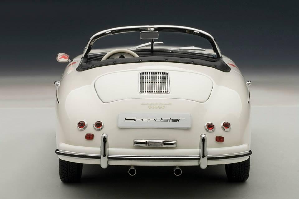 AUTOart Porsche 356 Speedster 23F White 77865 In 1