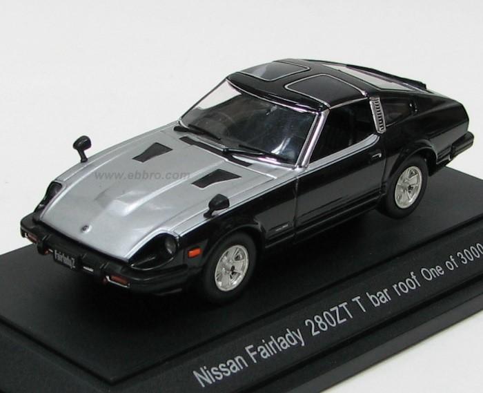 Ebbro 1980 Nissan Fairlady 280ZX Targa Black Silver 43417 In 143 Scale MDiecast