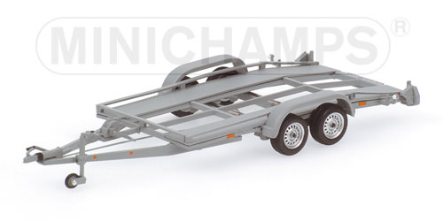 Minichamps Car Trailer Silver 400 905020 In 143