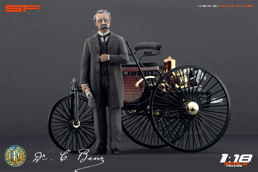 Scale Figures Karl Benz Figure SF118009 In 118 Scale