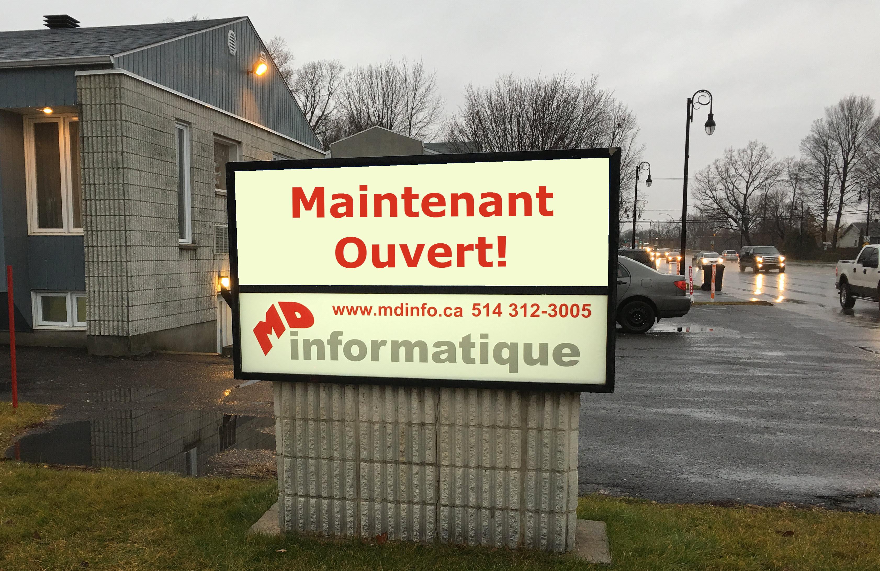 MD Informatique Inc. à Repentigny est maintenant ouvert