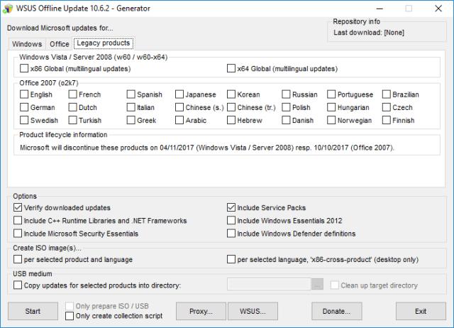 Wsus Offline Legacy (Windows Vista)