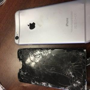 Iphone détruit avec un marteau
