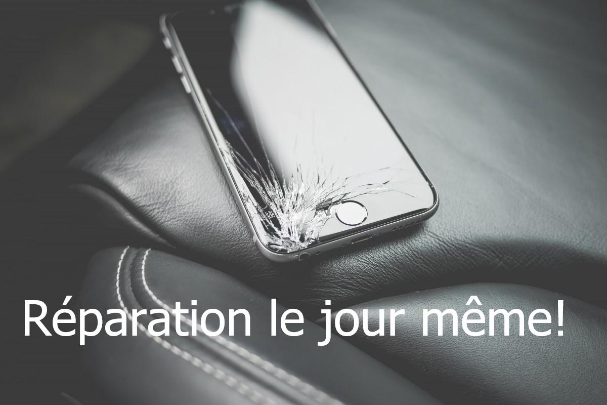 Réparation d'iPhone le jour même.
