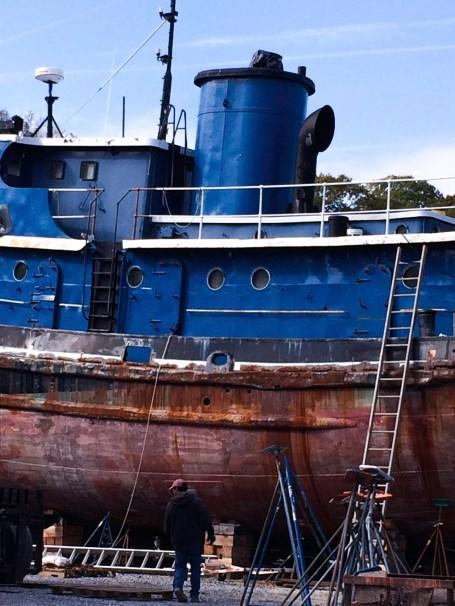 Belfast Tugboat by Nancy Jones