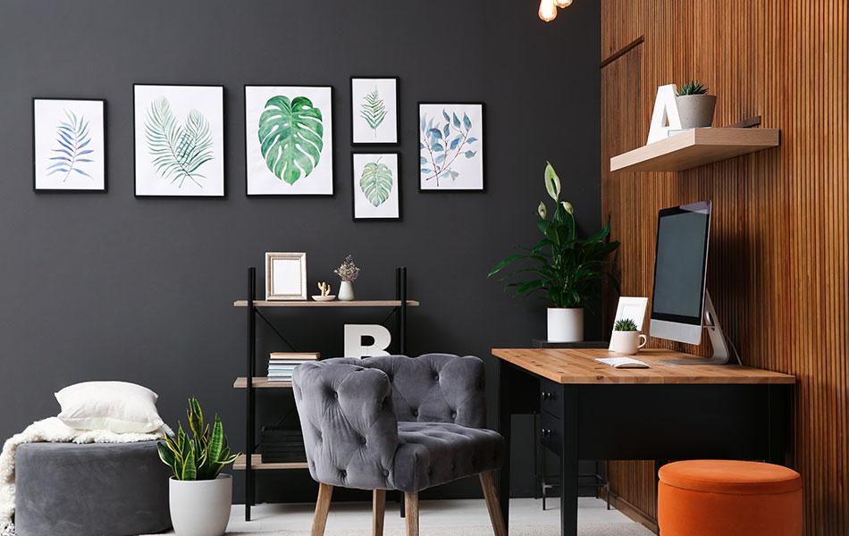 combinacao elementos decor home office