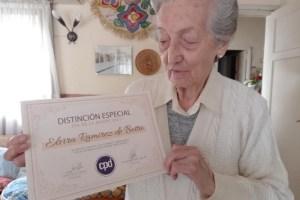 El Círculo de Periodistas Deportivos reconoció a Elvira Ramírez de Botta