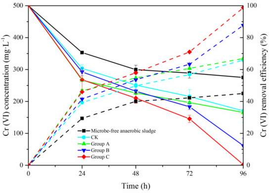 External Carbon Source Facilitates Indirect Cr (VI) Bioreduction Process by Anaerobic Sludge Produced from Kitchen Waste