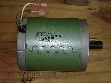 A DC motor to be used as a generator in a wind turbine