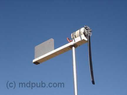 The wind turbine broken after a wind storm