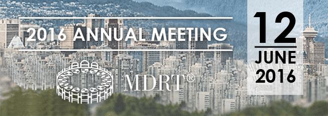 MDRT Annual Meeting 12 Juni 2016