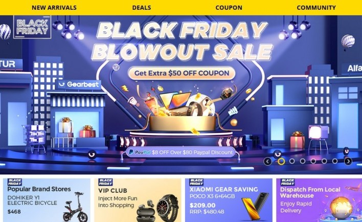 Gearbest Black Friday(Paypal $8 OFF Over $80 Paypal Discount)