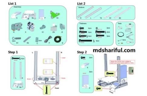 Creality Ender 3 3D Printer setup 1