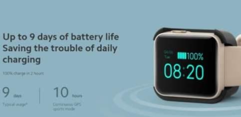 Xiaomi Mi Watch Lite battery