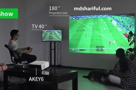 AUN AKEY6 Projector show