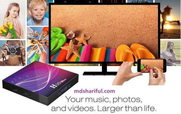 H10 Max Plus Smart TV Box design