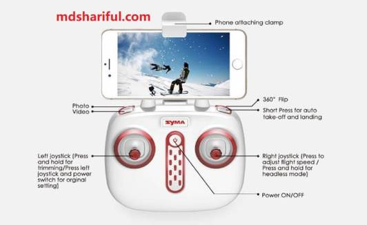SYMA X5UW Drone control