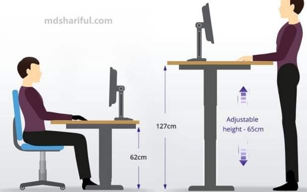 Acgam ET225E Electric Standing Desk Frame high adjustable design