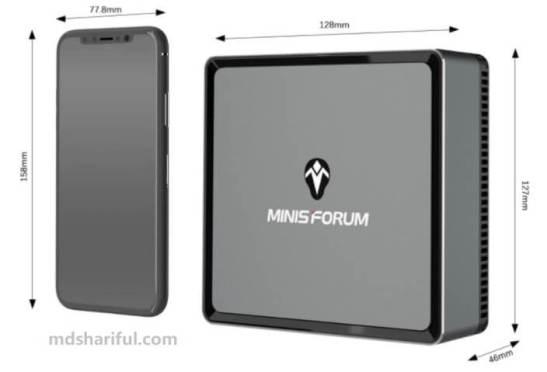 Minisforum DeskMini DMAF5 design
