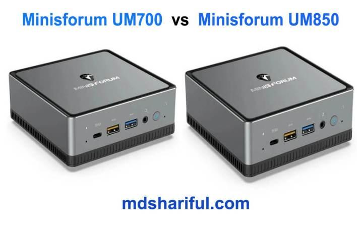 Minisforum UM700 vs UM850