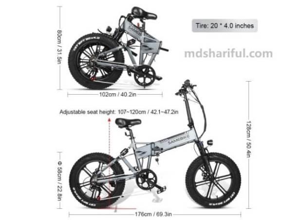 Samebike XWXL09 design