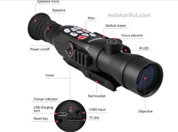 Shimmer Full Color Night Vision Telescope design