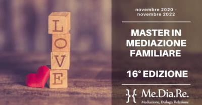CORSO in MEDIAZIONE FAMILIARE 16° EDIZIONE