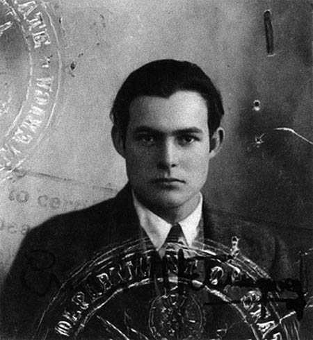 Hemingways passfoto 1923