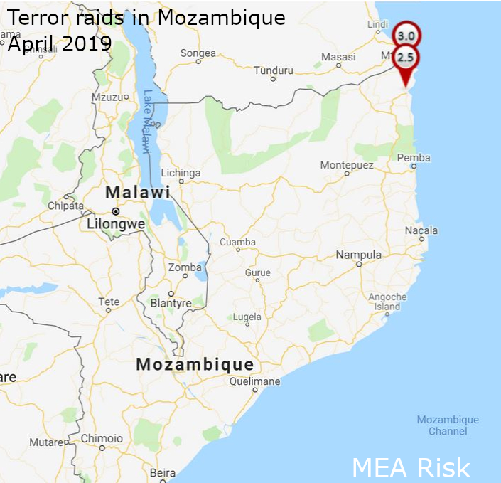 Terror attacks in Mozambique full month of April 2019