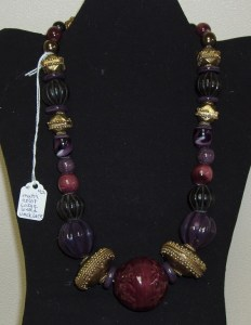 42. Multi-Colored Large Bead Necklace