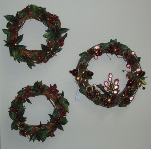 14. Berry Grapevine Wreaths, Set of 3
