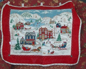 """109. Quilted Wall Hanging 30"""" x 26"""""""