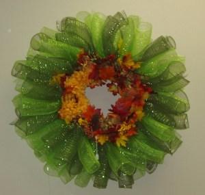 70. Autumn Mesh Wreath