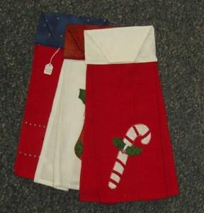87. Three Festive Towels (Waffle Weave Fabric)