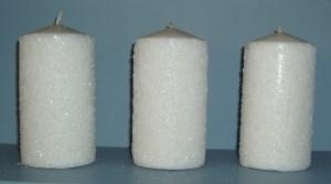 88. Three White Pillar Candles