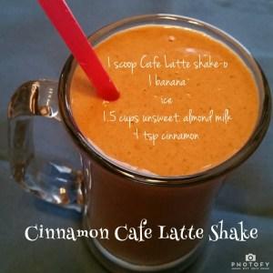 Cinnamon Cafe Latte Shake