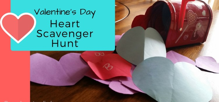 Valentine's Day Heart Scavenger Hunt