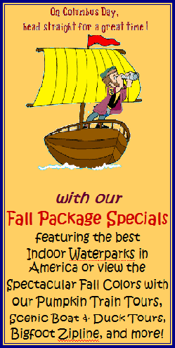Columbus Day Specials - Stay at Meadowbrook Resort in Wisconsin Dells