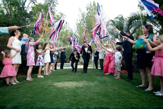 groom sendoff destination wedding in palm springs | Planner Meadows Events | Photo Courtney Vogel Photography