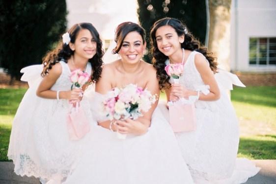 Bride & flower girls_santa monica shoot