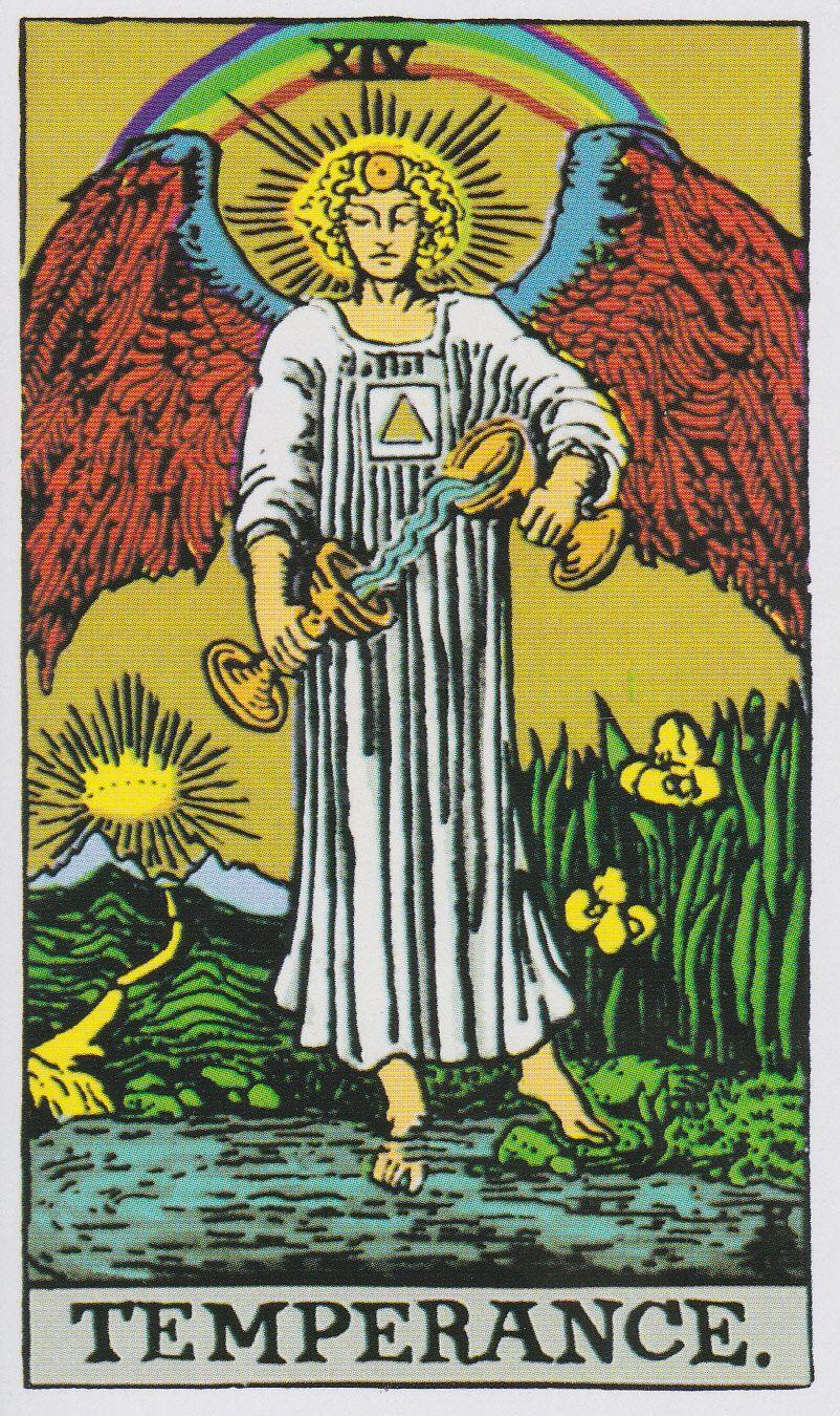 Temperance Tarot Card from The Albano Waite Tarot