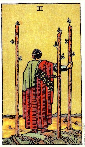 Three of Wands, Smith-Waite Tarot