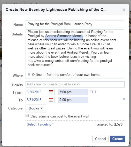 Facebook Launch Step 2