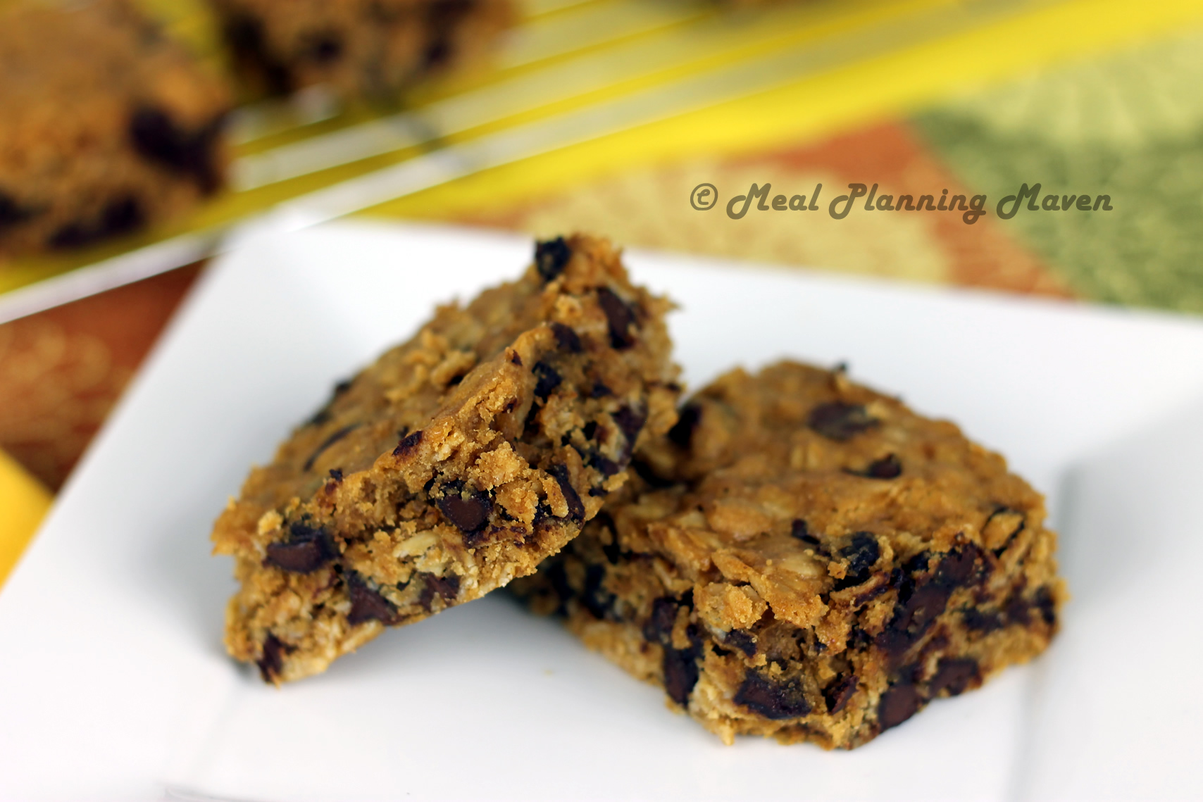 Choco-Oat Cookie Bars