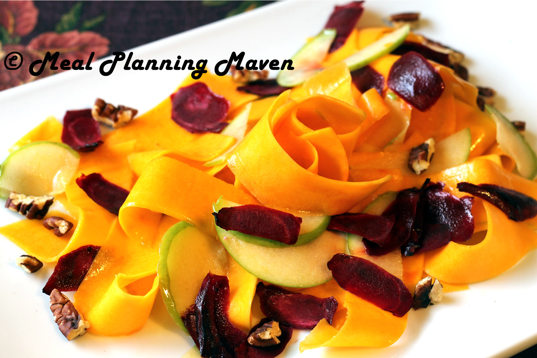 Butternut Squash Ribbon Salad with Apple-Dijon Vinaigrette